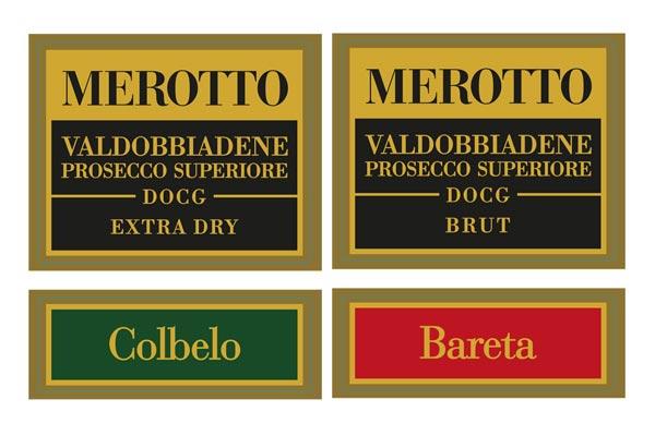 Esempio grafica etichetta bottigle vino