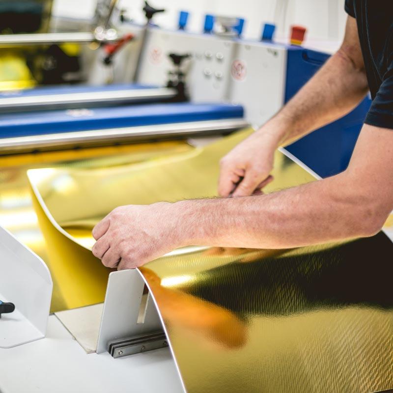 Plastificazione per stampa a foglio