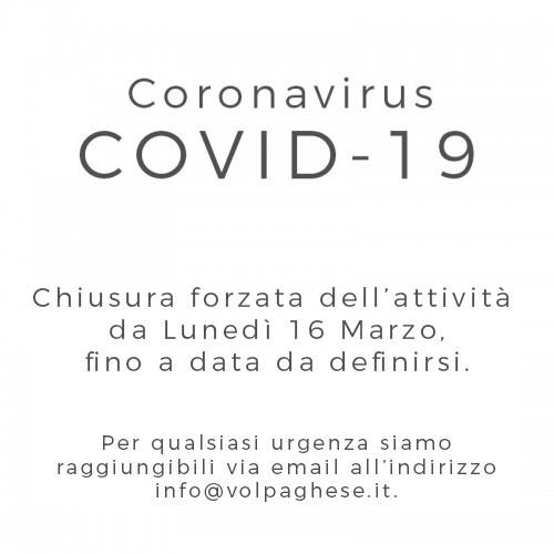 Coronavirus COVID-19 - chiusura da Lunedì 16 Marzo
