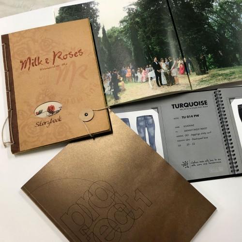 Brochure e libretti con rilegature miste