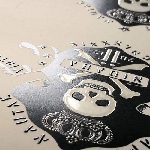 Menu birreria con stampa serigrafica UV
